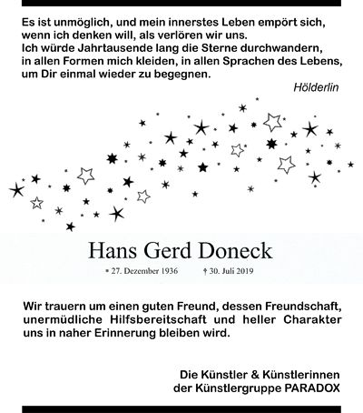 Website Hans Gerd Doneck